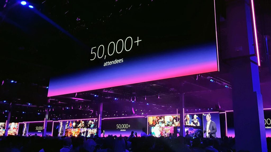 # of attendees, re:Invent 2018